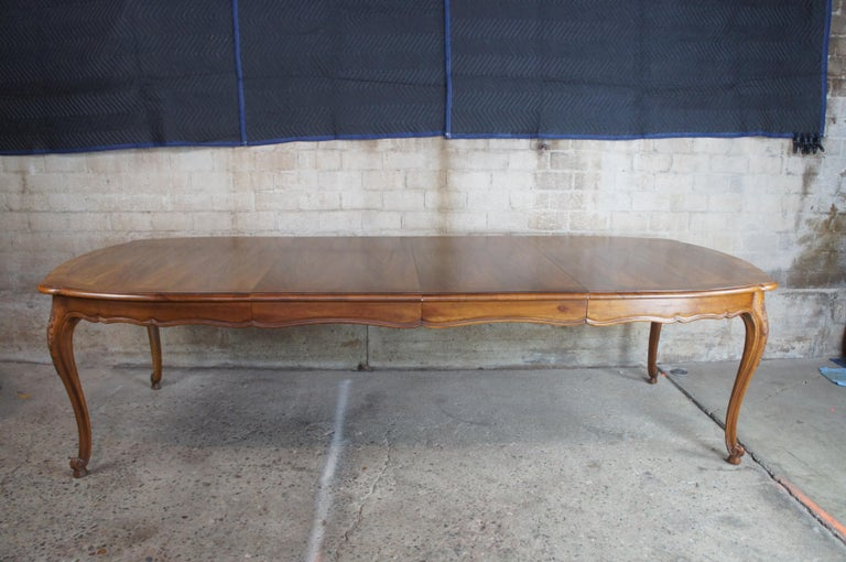 Vintage John Widdicomb Louis XV French Country Coa & Walnut Dining Table 1