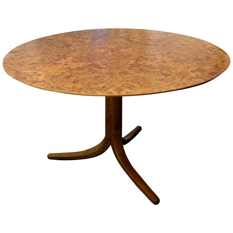 Vintage Josef Frank Burl Wood Table, Sweden, circa 1950s For Sale