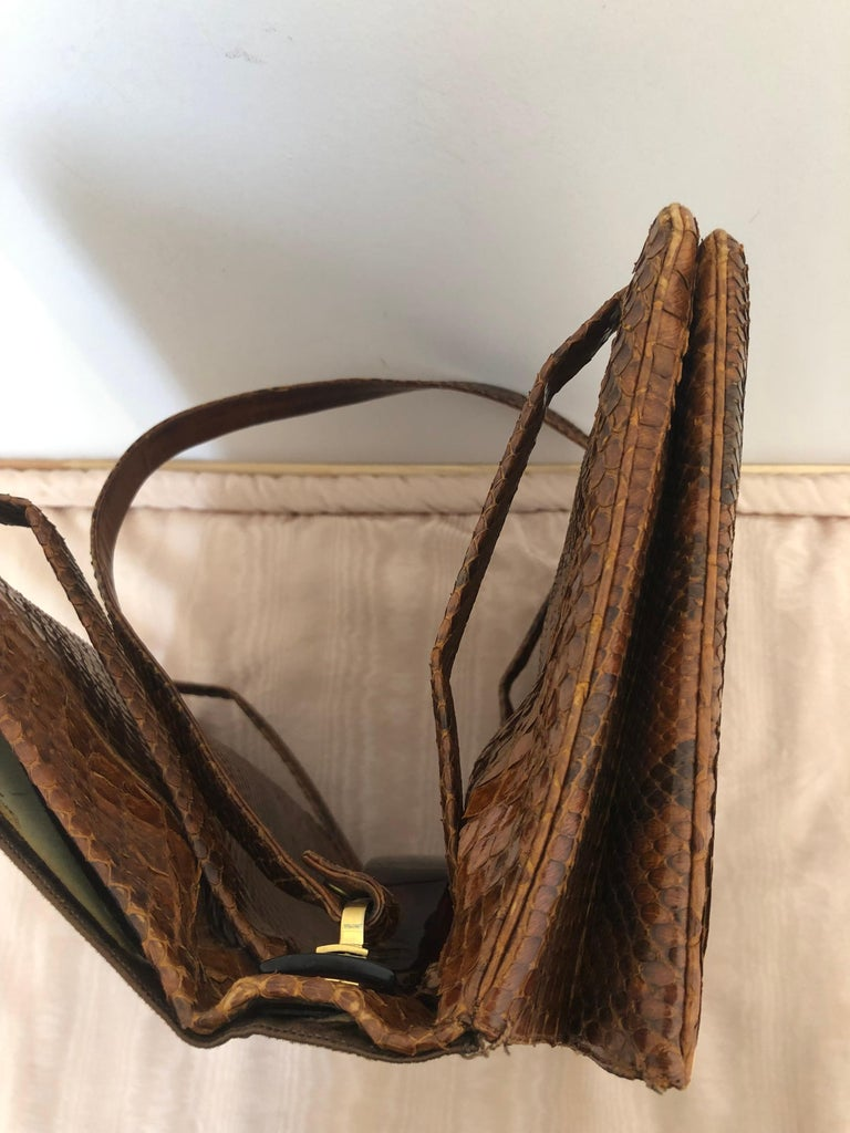 Vintage Judith Leiber Snakeskin Handbag for Saks Fifth Avenue Two Ways For Sale 5