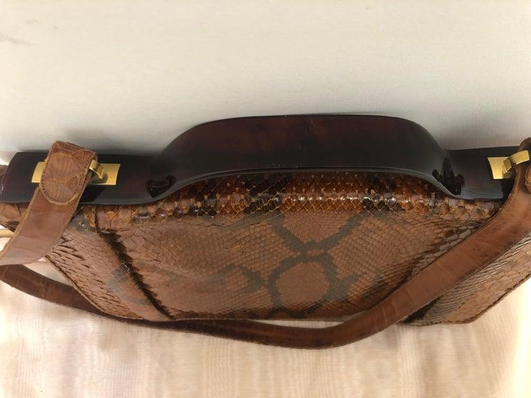 Brown Vintage Judith Leiber Snakeskin Handbag for Saks Fifth Avenue Two Ways For Sale