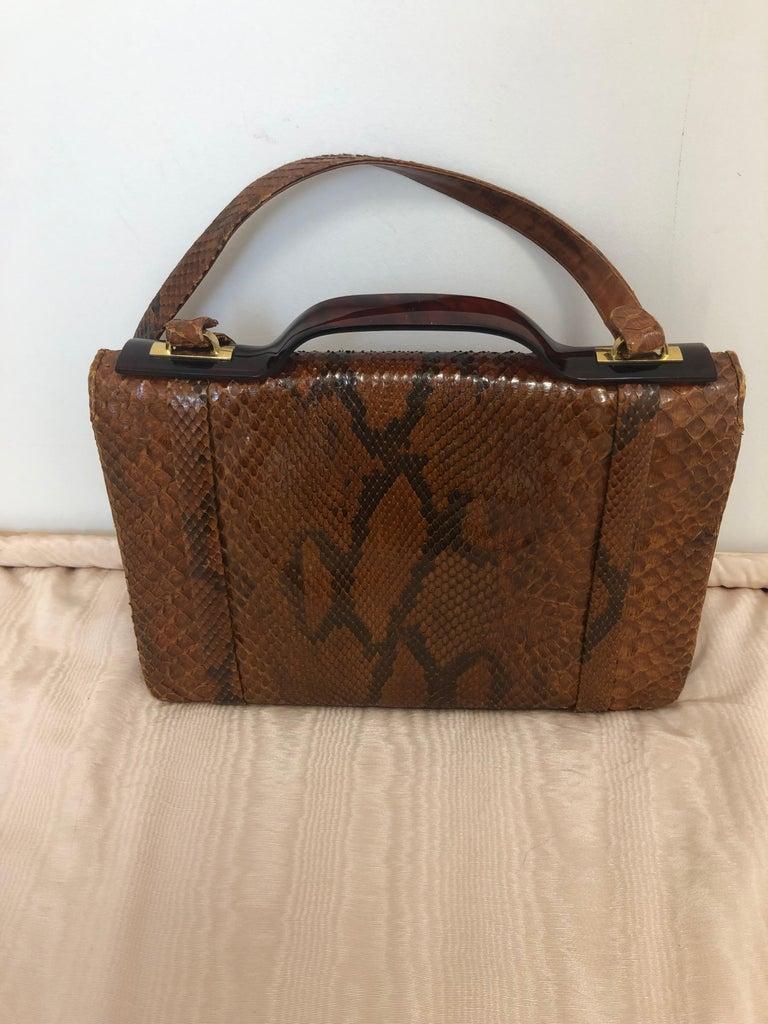 Women's Vintage Judith Leiber Snakeskin Handbag for Saks Fifth Avenue Two Ways For Sale