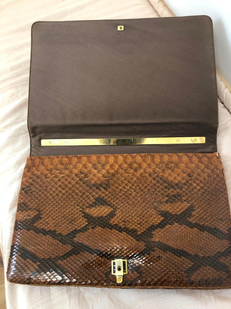 Vintage Judith Leiber Snakeskin Handbag for Saks Fifth Avenue Two Ways For Sale 1