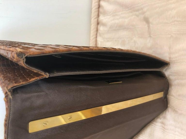 Vintage Judith Leiber Snakeskin Handbag for Saks Fifth Avenue Two Ways For Sale 4