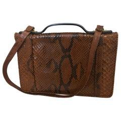Vintage Judith Leiber Snakeskin Handbag for Saks Fifth Avenue Two Ways