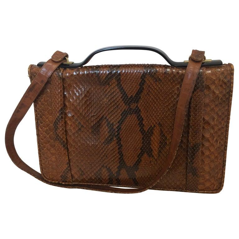 Vintage Judith Leiber Snakeskin Handbag for Saks Fifth Avenue Two Ways For Sale