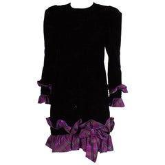 Vintage Juditte Velvet and Silk Cocktail Dress