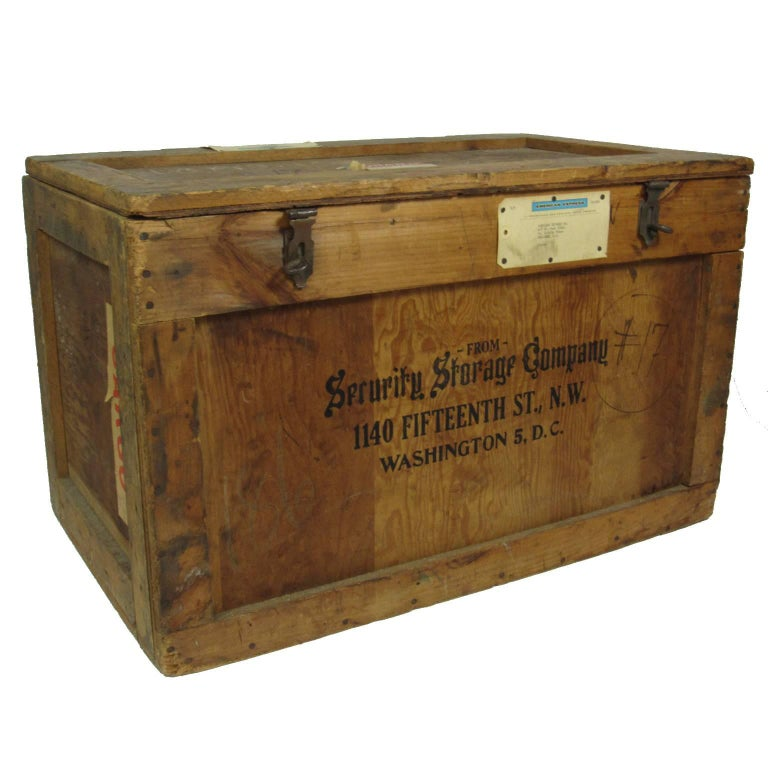 Vintage Julia Child's Security Storage Company Shipping Crate