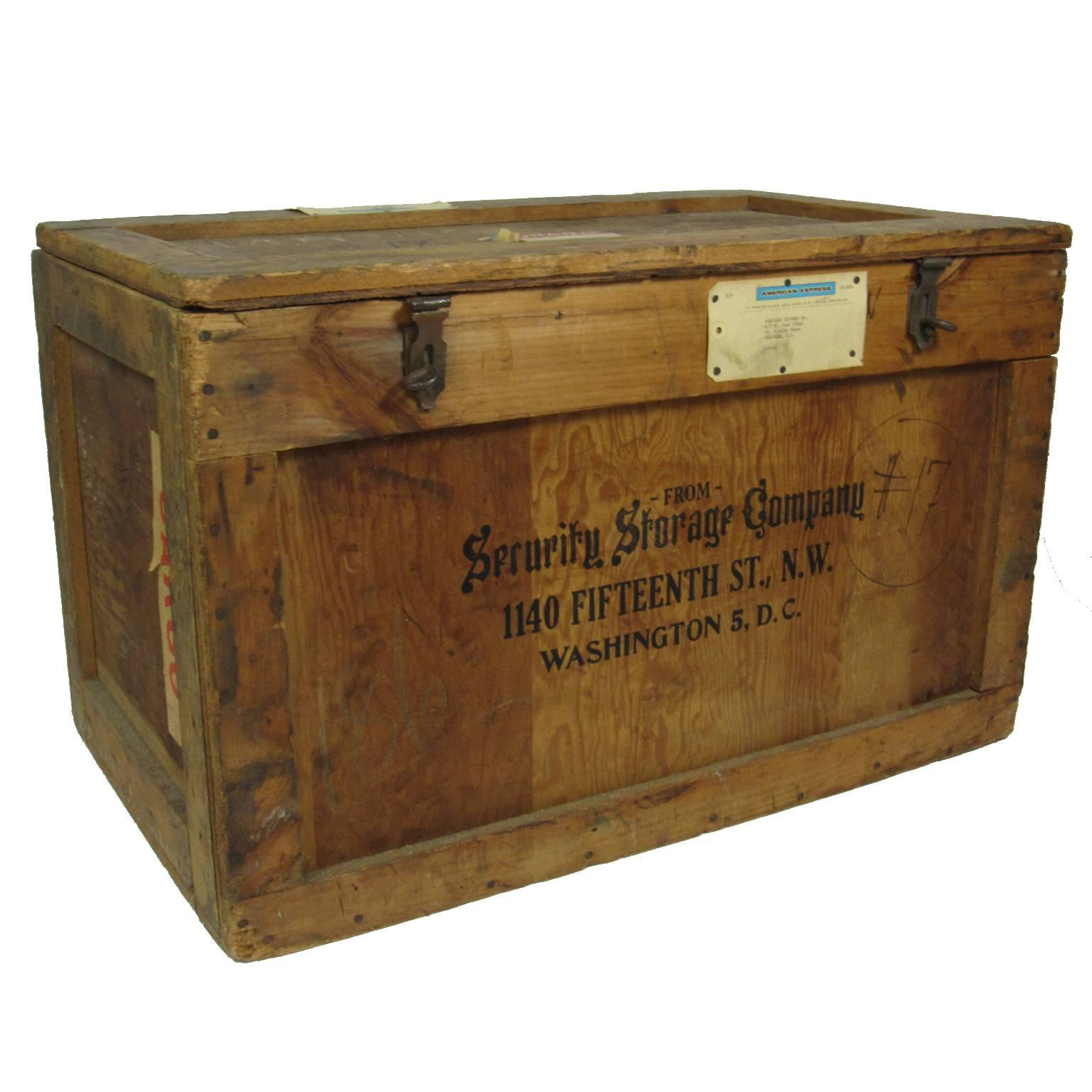 Vintage Julia Childu0027s Security Storage Company Shipping Crate