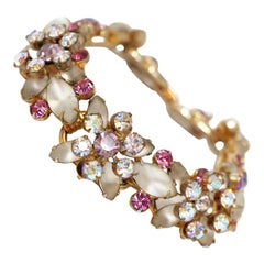 Vintage Juliana Frosted Rhinestone Bracelet by DeLizza & Elster, circa 1967