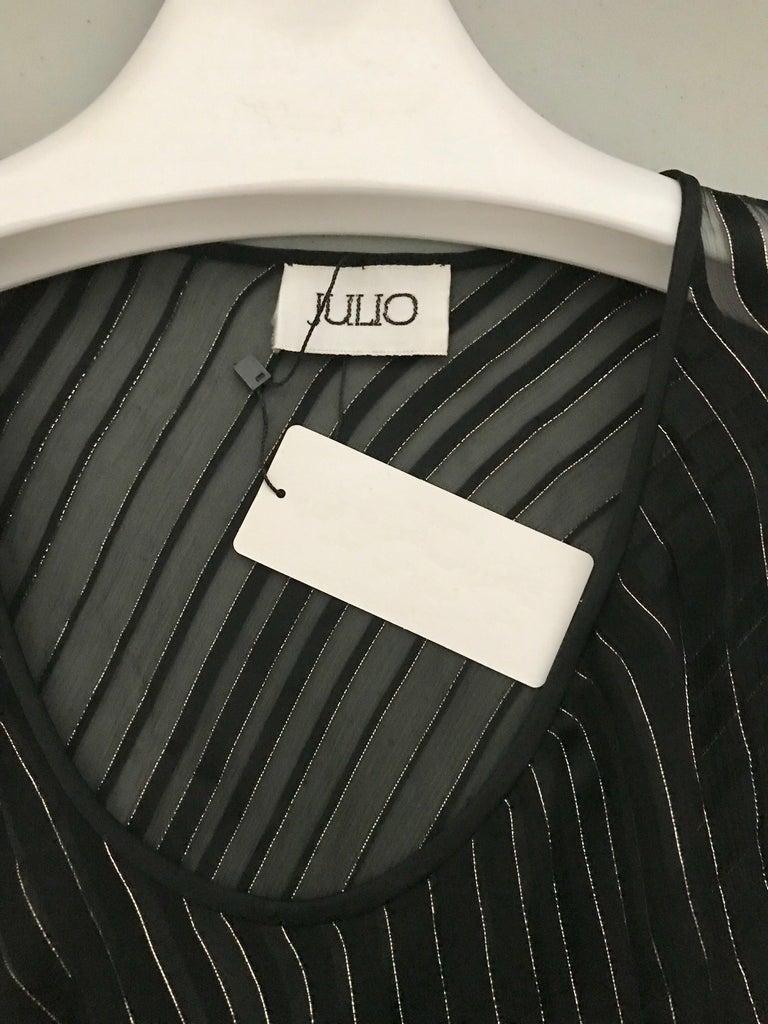 Vintage Julio Black and Gild Silk Blouse and Skirt Set  For Sale 10