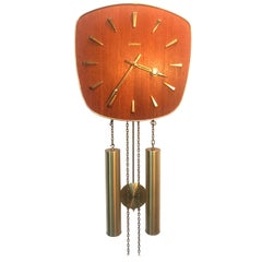 Vintage Junghans Pendulum Wall Clock in Teak from the 1960s