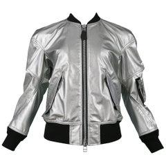 Vintage Junya Watanabe Silver Metallic Bomber Jacket