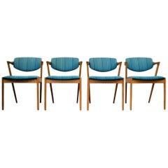 Vintage Kai Kristiansen #42 Oak Dining Chairs