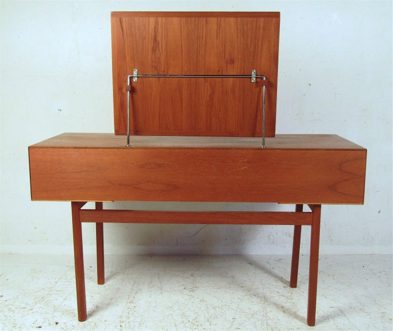 European Vintage Kai Kristiansen Vanity Table and Stool by Aksel Kjersgaard For Sale