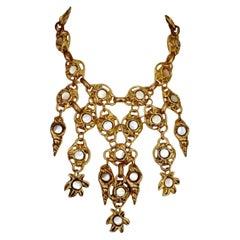 Vintage KALINGER PARIS Mother Of Pearl Necklace