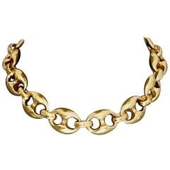 Vintage KARL LAGERFELD Emblematic Chain Choker Necklace