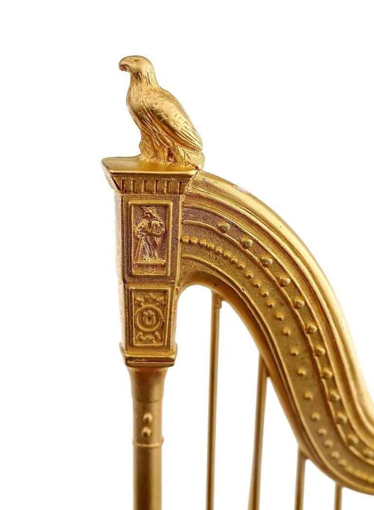 Vintage KARL LAGERFELD Harp Limited Edition Novelty Brooch For Sale 4