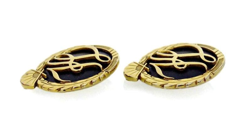 Women's or Men's Vintage Karl Lagerfeld Iconic Logo Earrings For Sale