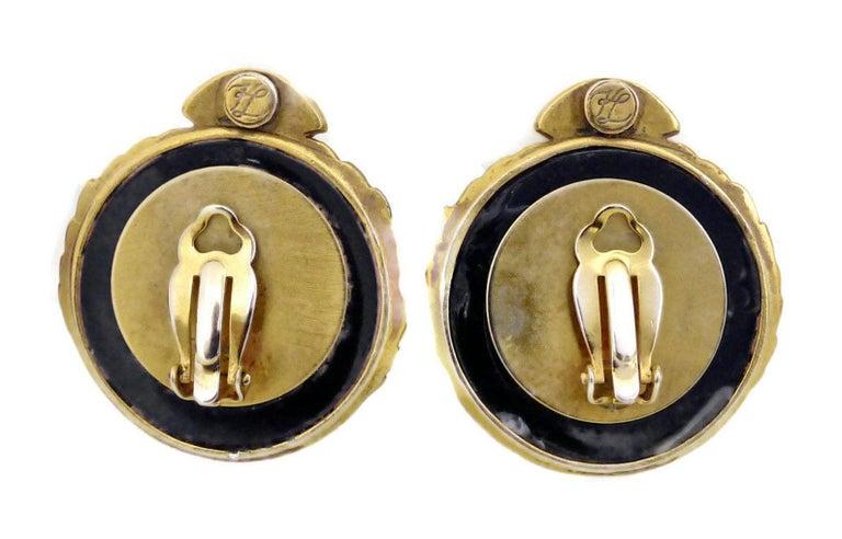 Vintage Karl Lagerfeld Iconic Logo Earrings For Sale 1
