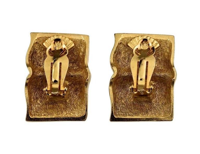 Vintage KARL LAGERFELD KL Logo Book Novelty Earrings For Sale 6