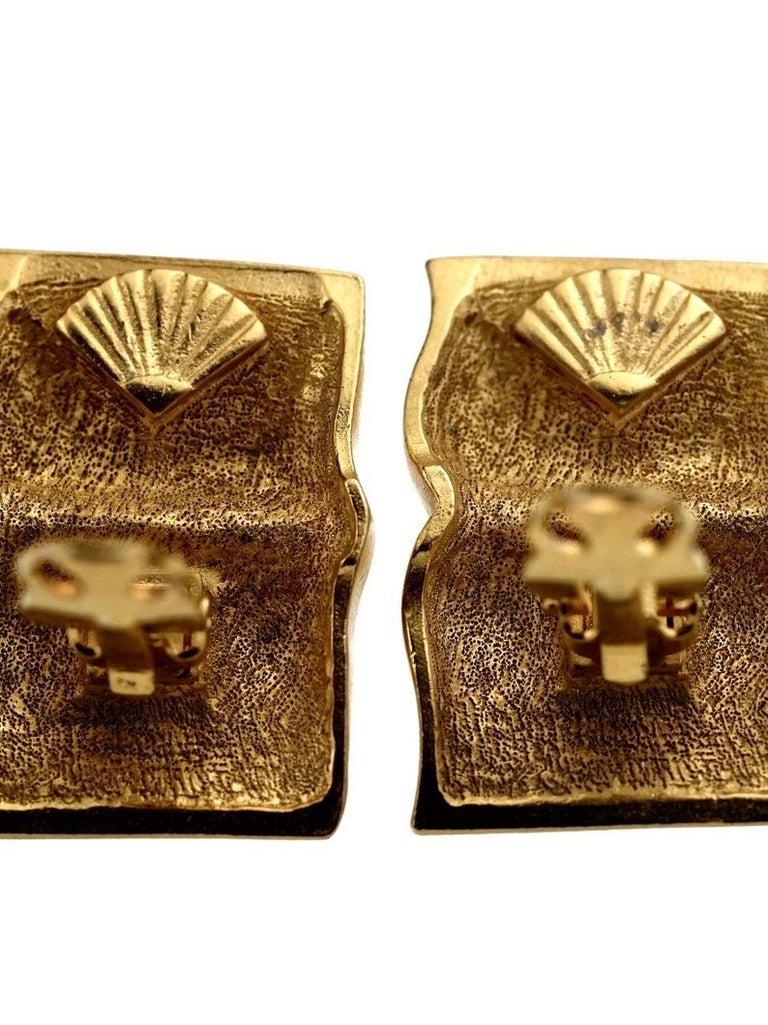 Vintage KARL LAGERFELD KL Logo Book Novelty Earrings For Sale 7