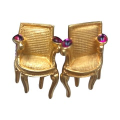 Vintage Karl Lagerfeld Louis XVI Chair Earrings