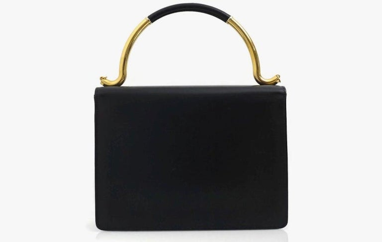 Vintage KARL LAGERFELD Navy Blue Kelly Bag In Good Condition For Sale In Kingersheim, Alsace