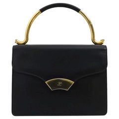 Vintage KARL LAGERFELD Navy Blue Kelly Bag