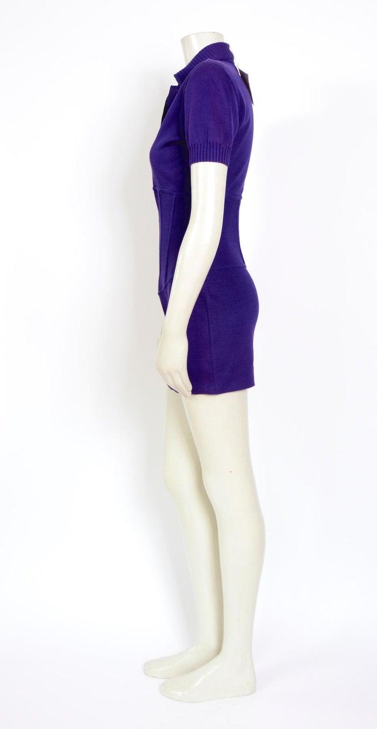 Women's Vintage Karl Lagerfeld spring summer 1995 cotton jersey corset mini dress For Sale