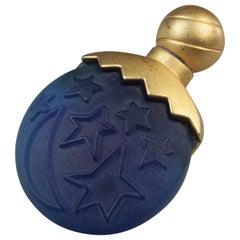 Vintage KARL LAGERFELD Sun Moon Stars Perfume Brooch