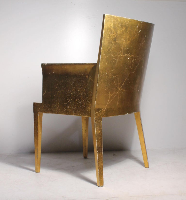 Vintage Karl Springer JMF Armchair (Gilt) by Enrique Garcel for Jimeco In Good Condition For Sale In Chicago, IL