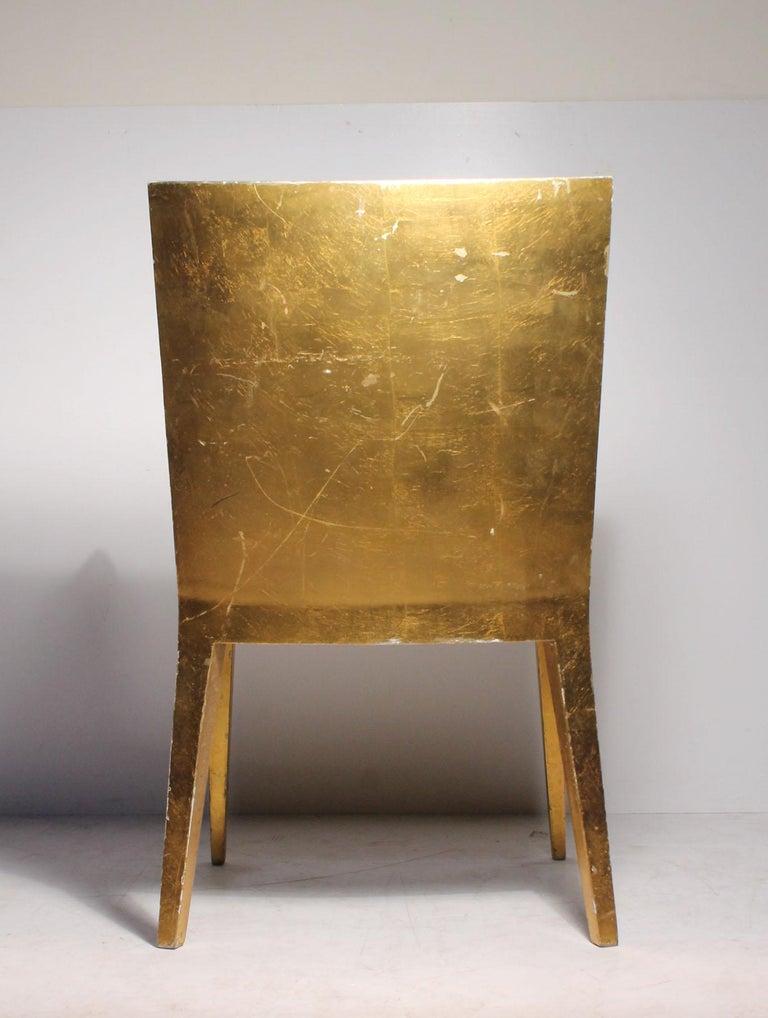 20th Century Vintage Karl Springer JMF Armchair (Gilt) by Enrique Garcel for Jimeco For Sale