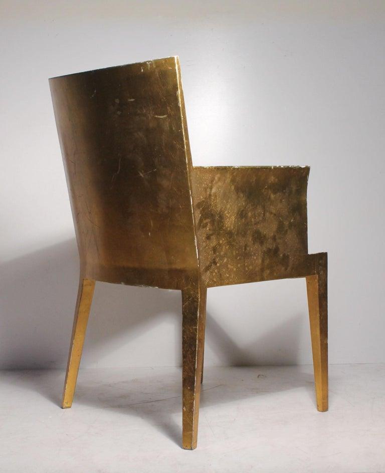 Wood Vintage Karl Springer JMF Armchair (Gilt) by Enrique Garcel for Jimeco For Sale
