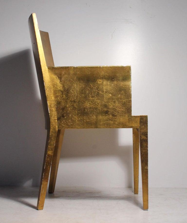 Vintage Karl Springer JMF Armchair (Gilt) by Enrique Garcel for Jimeco For Sale 1
