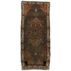 Vintage Kars Gallery Rug with Mid-Century Modern Style
