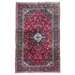 Vintage Kashan Style Rug