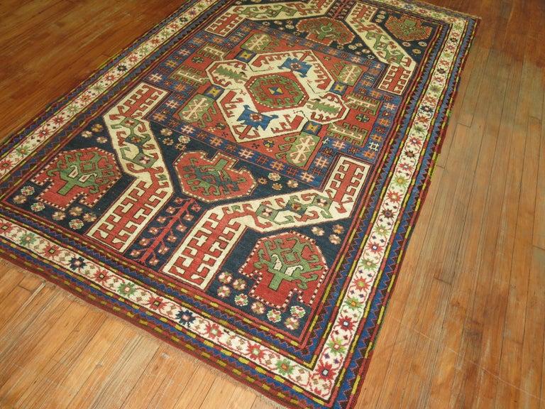 Caucasian Vintage Kazak Rug For Sale