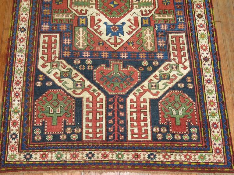 Hand-Knotted Vintage Kazak Rug For Sale