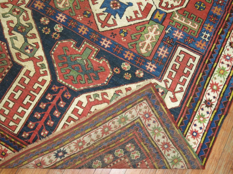 Vintage Kazak Rug In Good Condition For Sale In New York, NY