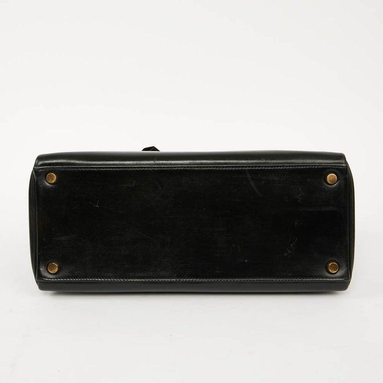 Vintage Kelly 28 HERMES  Black Bag Box and  Alligator For Sale 1