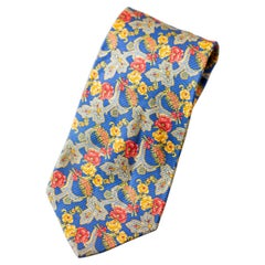 Vintage Kenzo all-silk tie with flowers