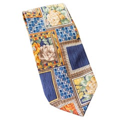 Vintage Kenzo all-silk tie with roses