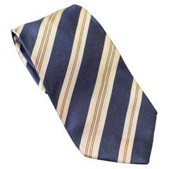 Vintage Kenzo Homme striped all-silk tie