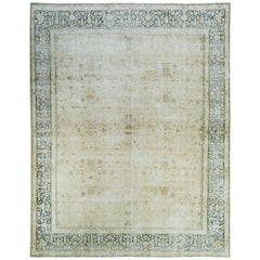Vintage Kerman Distressed Rug