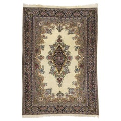 Vintage Kerman Rug with French Victorian Style