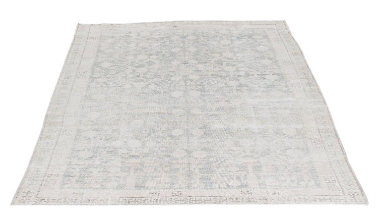Khotan rugs are produced in East Turkestan and are interchangeably referred to as Samarkand rugs due to their close proximity to the cultural city center of the same name. Khotan rugs are distinguished by their geometric patterns ranging from soft