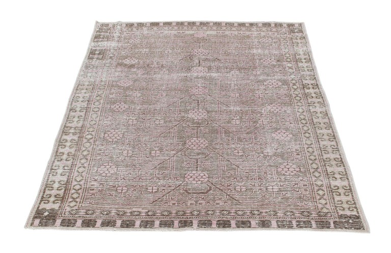 East Turkestani Vintage Khotan Samarkand Rug  For Sale
