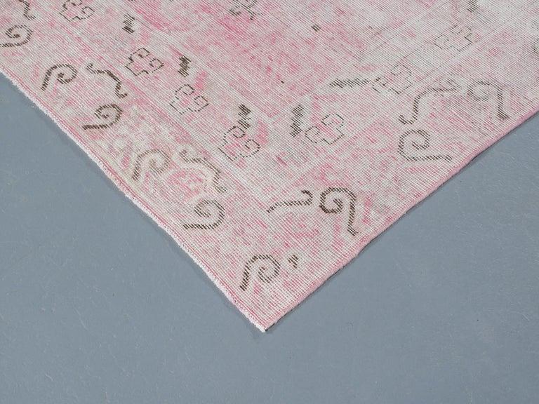 Hand-Knotted Vintage Khotan Samarkand Rug For Sale