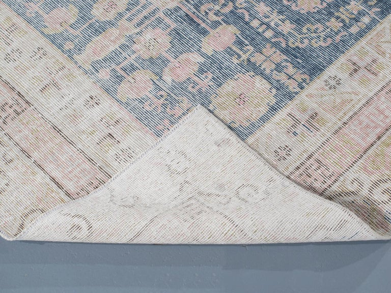 Mid-20th Century Vintage Khotan Samarkand Rug For Sale