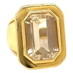 Vintage Kielselstein Topaz 18 Karat Gold Cocktail Ring